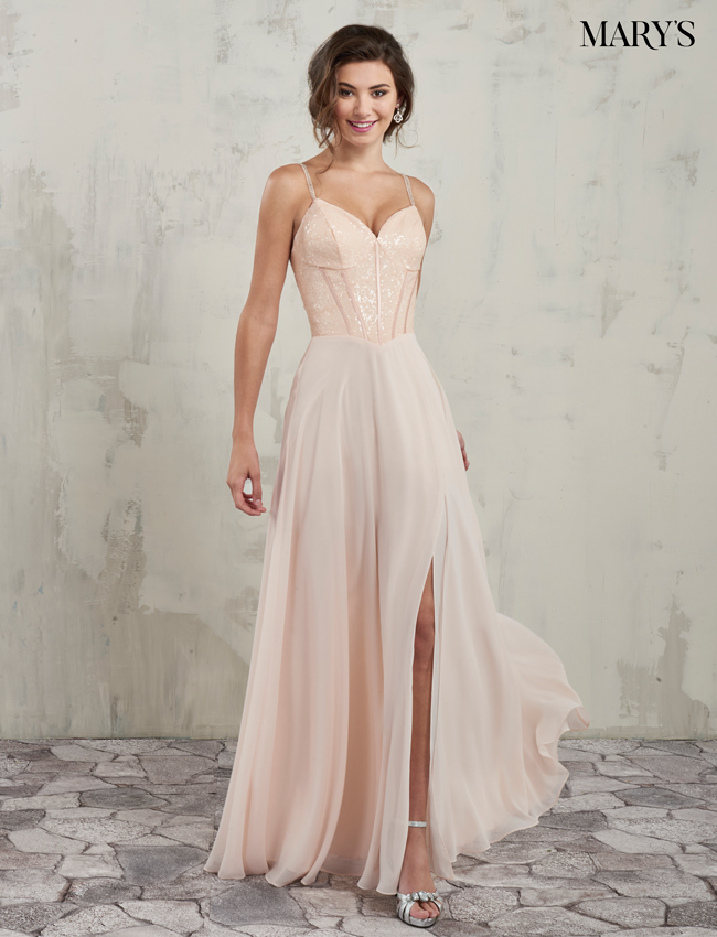 Blush Color Amalia Bridesmaid Dresses - Style - MB7017
