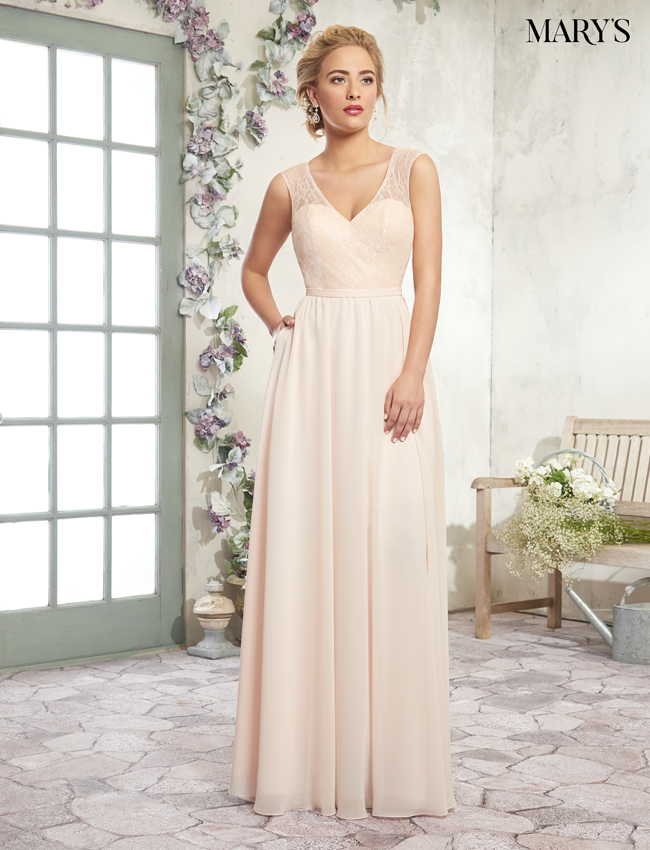 Blush Color Amalia Bridesmaid Dresses - Style - MB7019