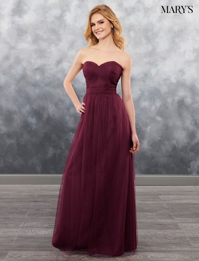 Dark Burgundy Color Amalia Bridesmaid Dresses - Style - MB7026