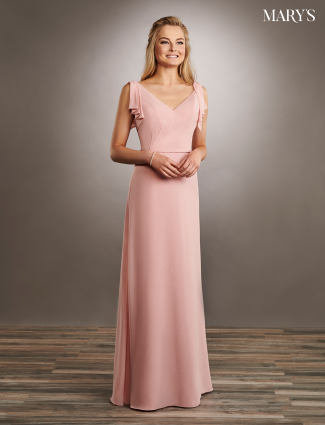Pink Color Amalia Bridesmaid Dresses - Style - MB7055