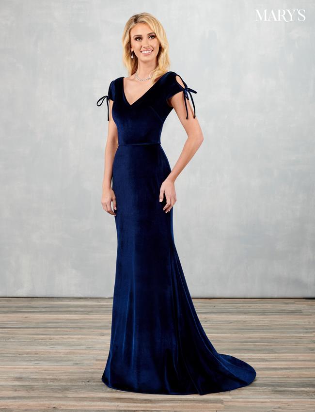 Dark Navy Color Amalia Bridesmaid Dresses - Style - MB7088