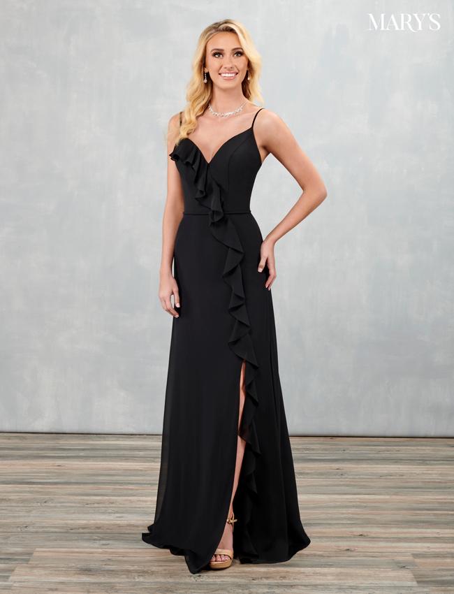 Black Color Amalia Bridesmaid Dresses - Style - MB7094