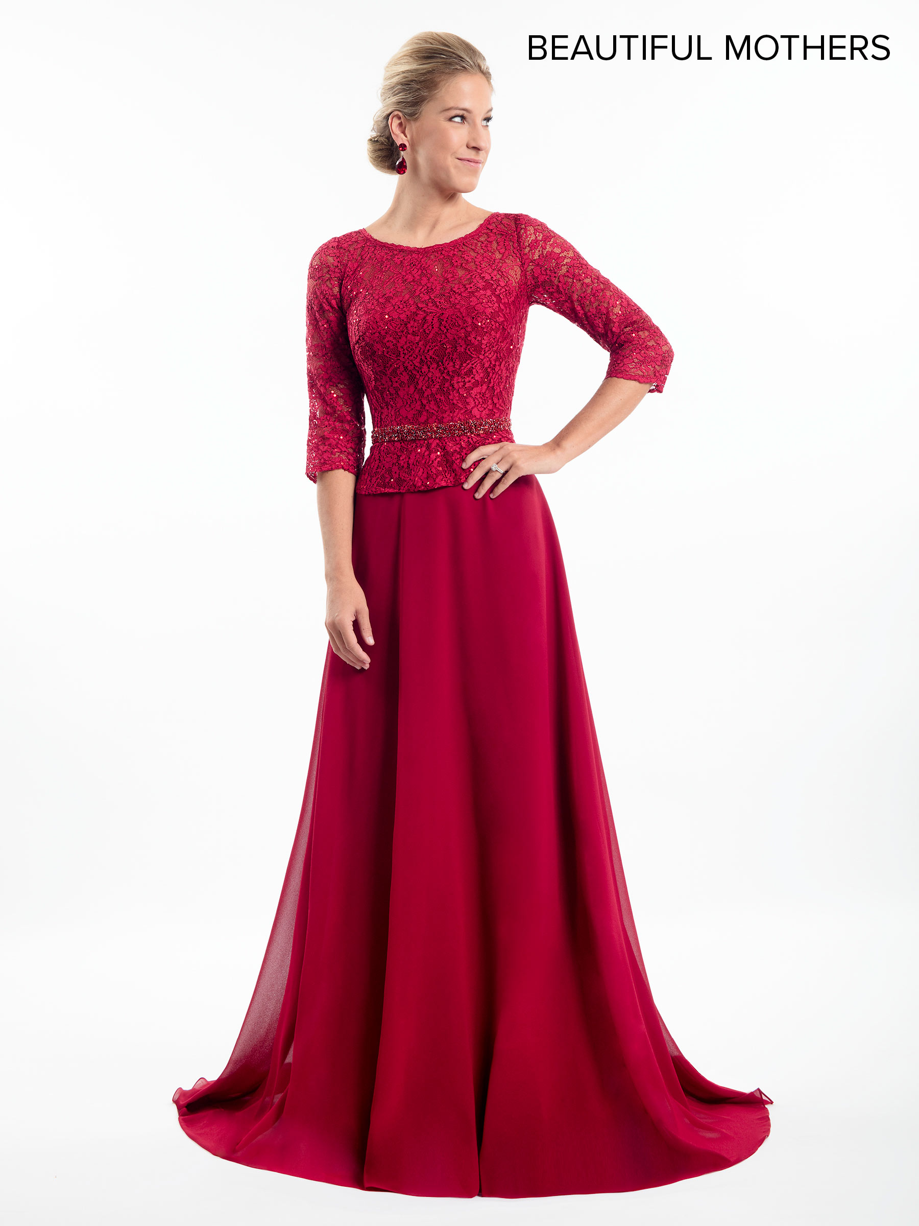0edb5737c7a5 Mother Of The Bride Dresses | Style - MB8009 in Dark Red, Black, or ...