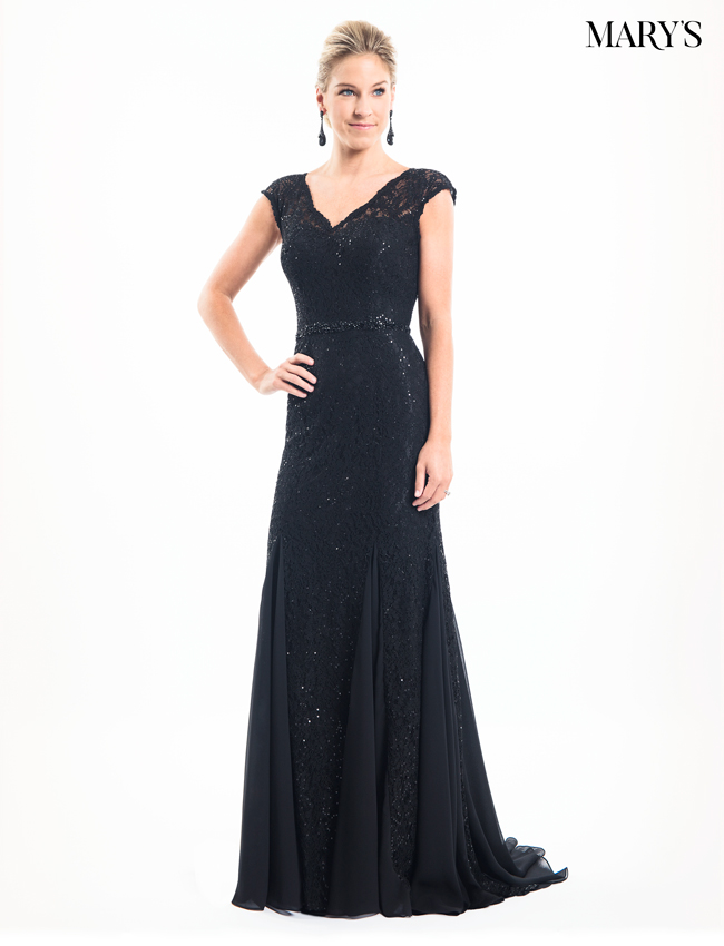 Black Color Mother Of The Bride Dresses - Style - MB8010