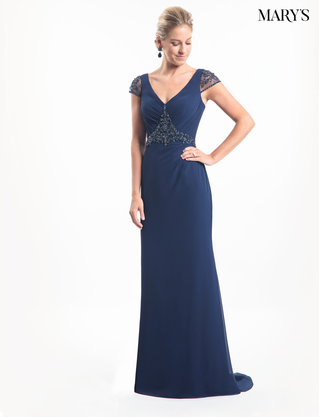 Dark Navy Color Mother Of The Bride Dresses - Style - MB8012