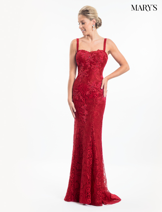 Red Color Mother Of The Bride Dresses - Style - MB8013