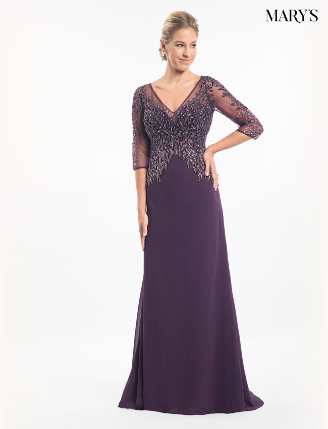 Plum Color Mother Of The Bride Dresses - Style - MB8014