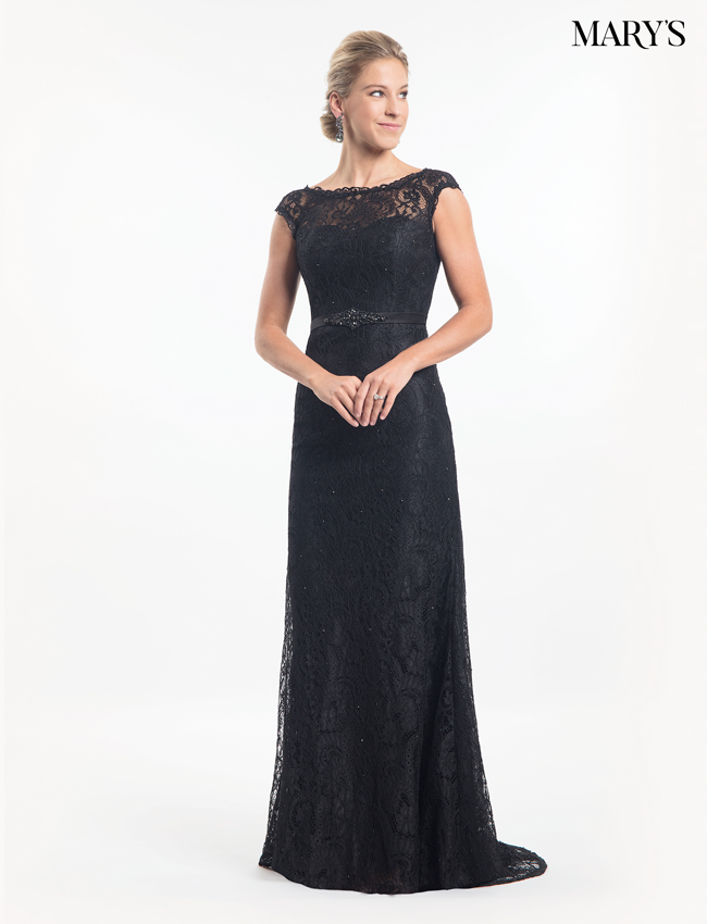 Black Color Mother Of The Bride Dresses - Style - MB8015
