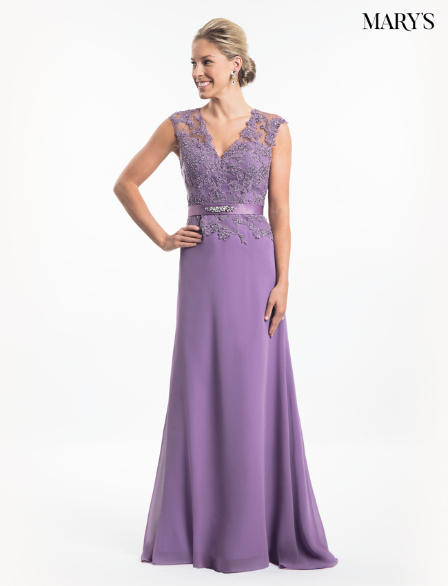 Violet Color Mother Of The Bride Dresses - Style - MB8017