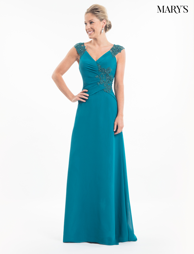 Teal Color Mother Of The Bride Dresses - Style - MB8018
