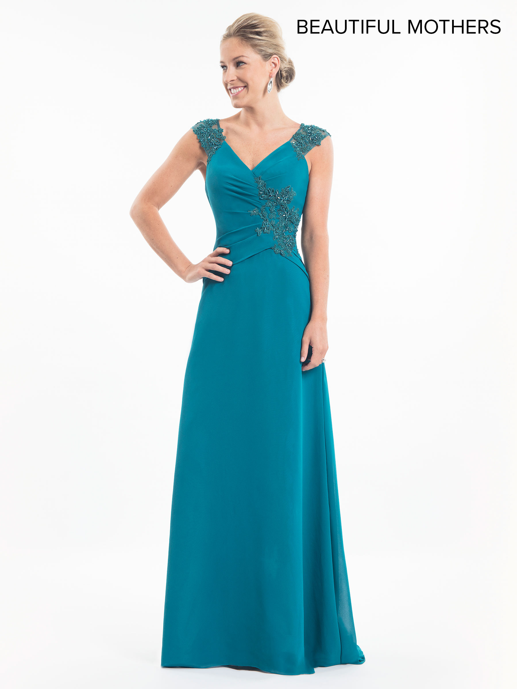 Mother Of The Bride Dresses | Style - MB8018 in Teal , Aubergine, or ...