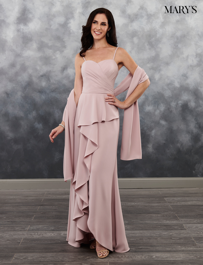 Apricot Pink Color Mother Of The Bride Dresses - Style - MB8022