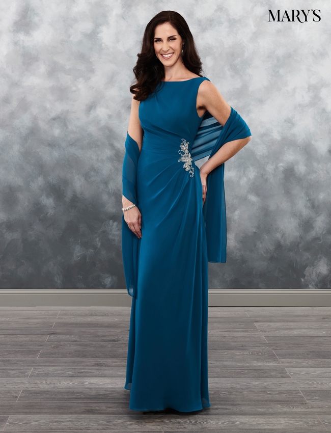 Ocean Color Mother Of The Bride Dresses - Style - MB8029