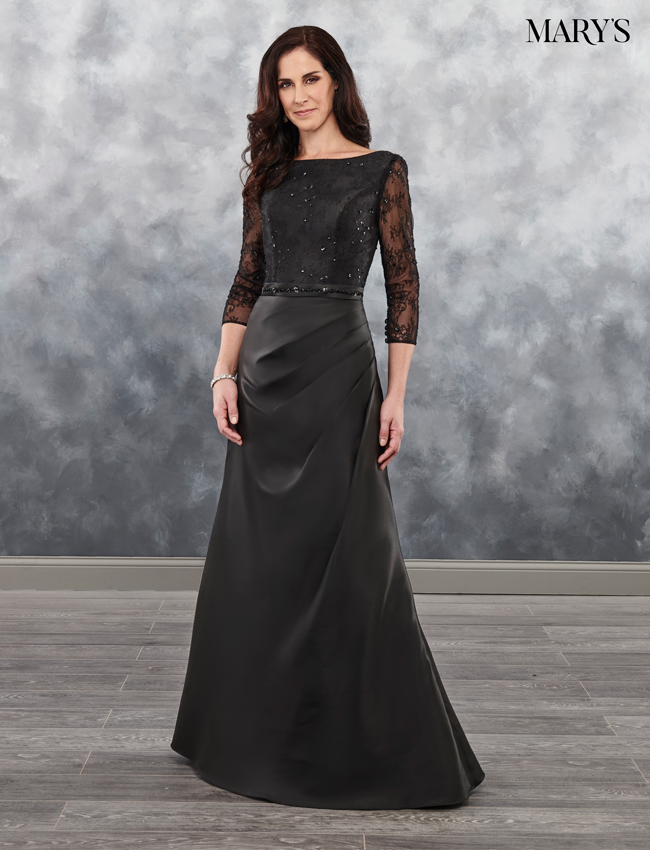 Black Color Mother Of The Bride Dresses - Style - MB8032
