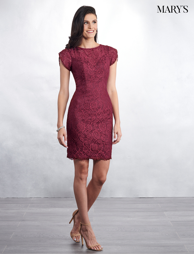 Dark Burgundy Color Mother Of The Bride Dresses - Style - MB8040