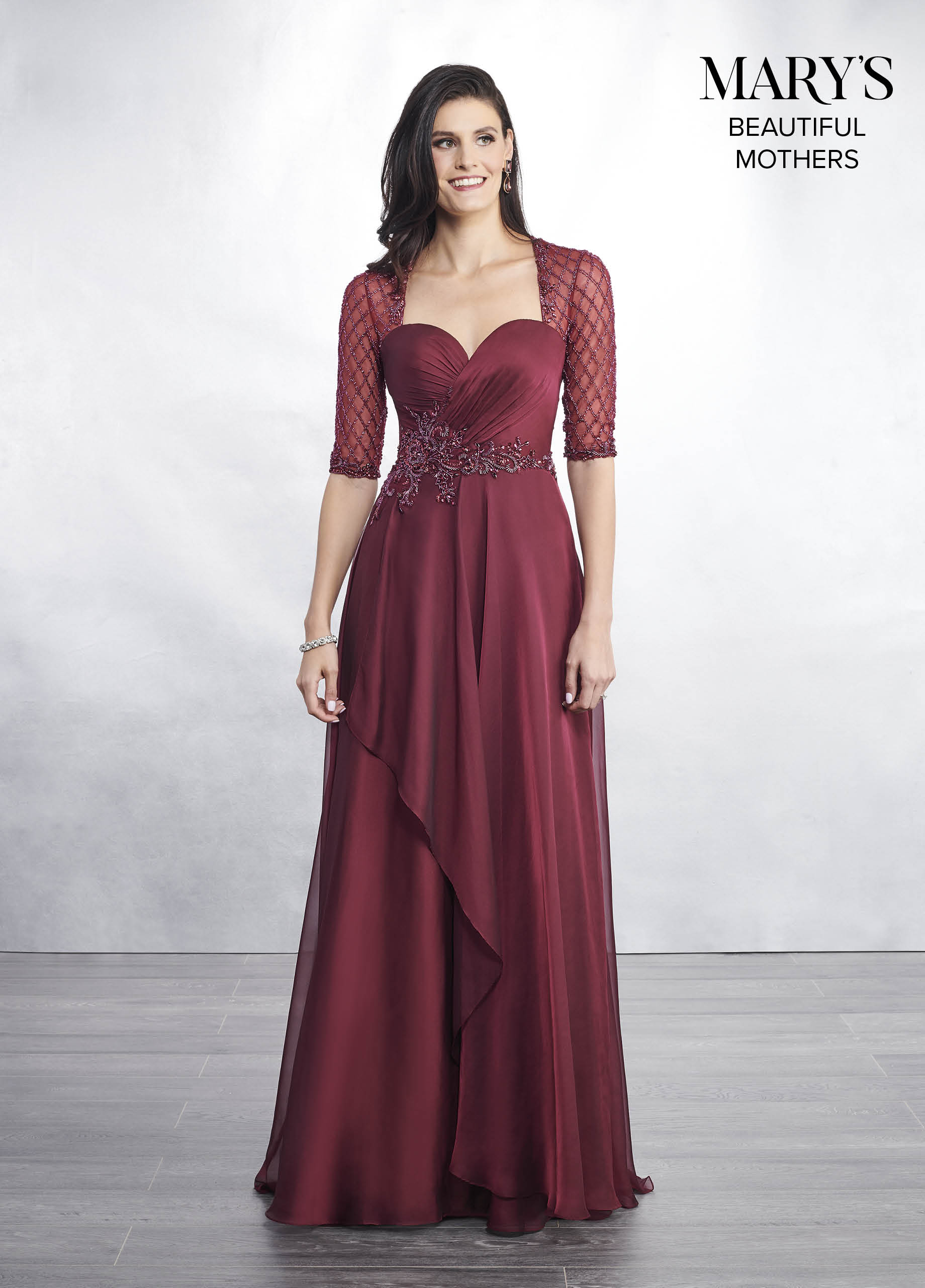 Mother Of The Bride Dresses Style Mb8042 In Shown In