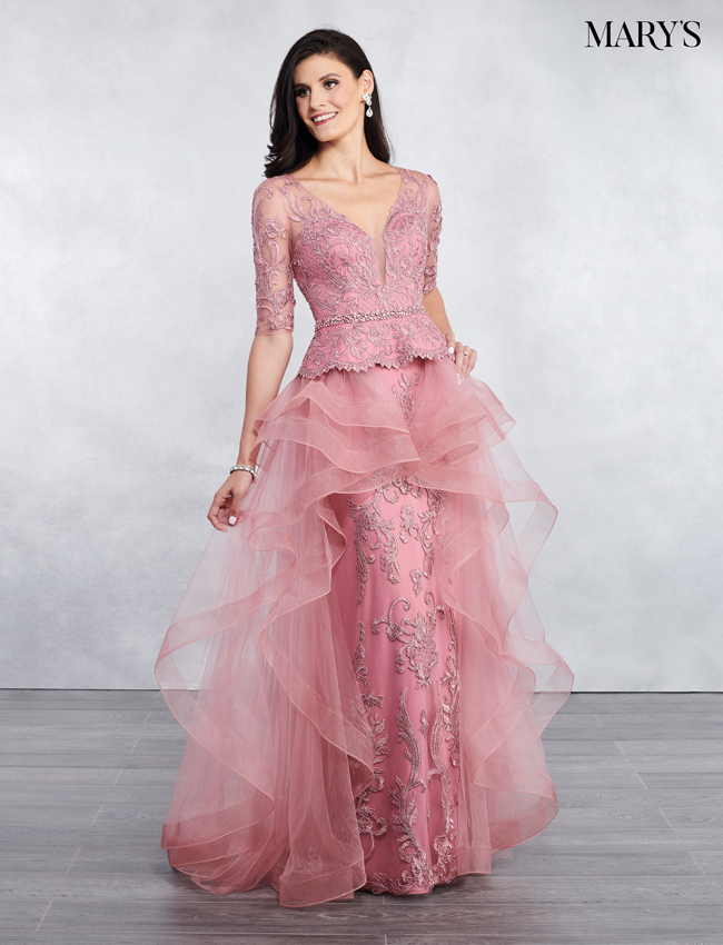 Dusty Rose Color Mother Of The Bride Dresses - Style - MB8047