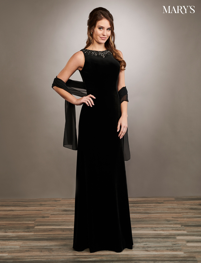 Black Color Mother Of The Bride Dresses - Style - MB8066