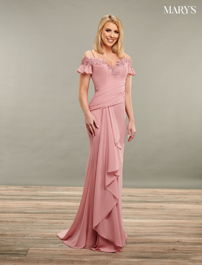Dark Burgundy Color Mother Of The Bride Dresses - Style - MB8087