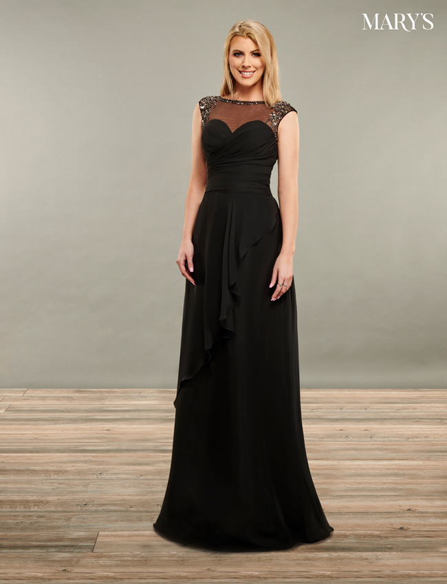 Black Color Mother Of The Bride Dresses - Style - MB8088