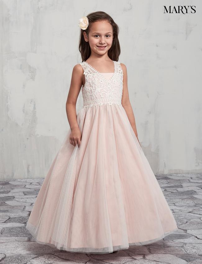 Dusty Rose Color Angel Flower Girl Dresses - Style - MB9002
