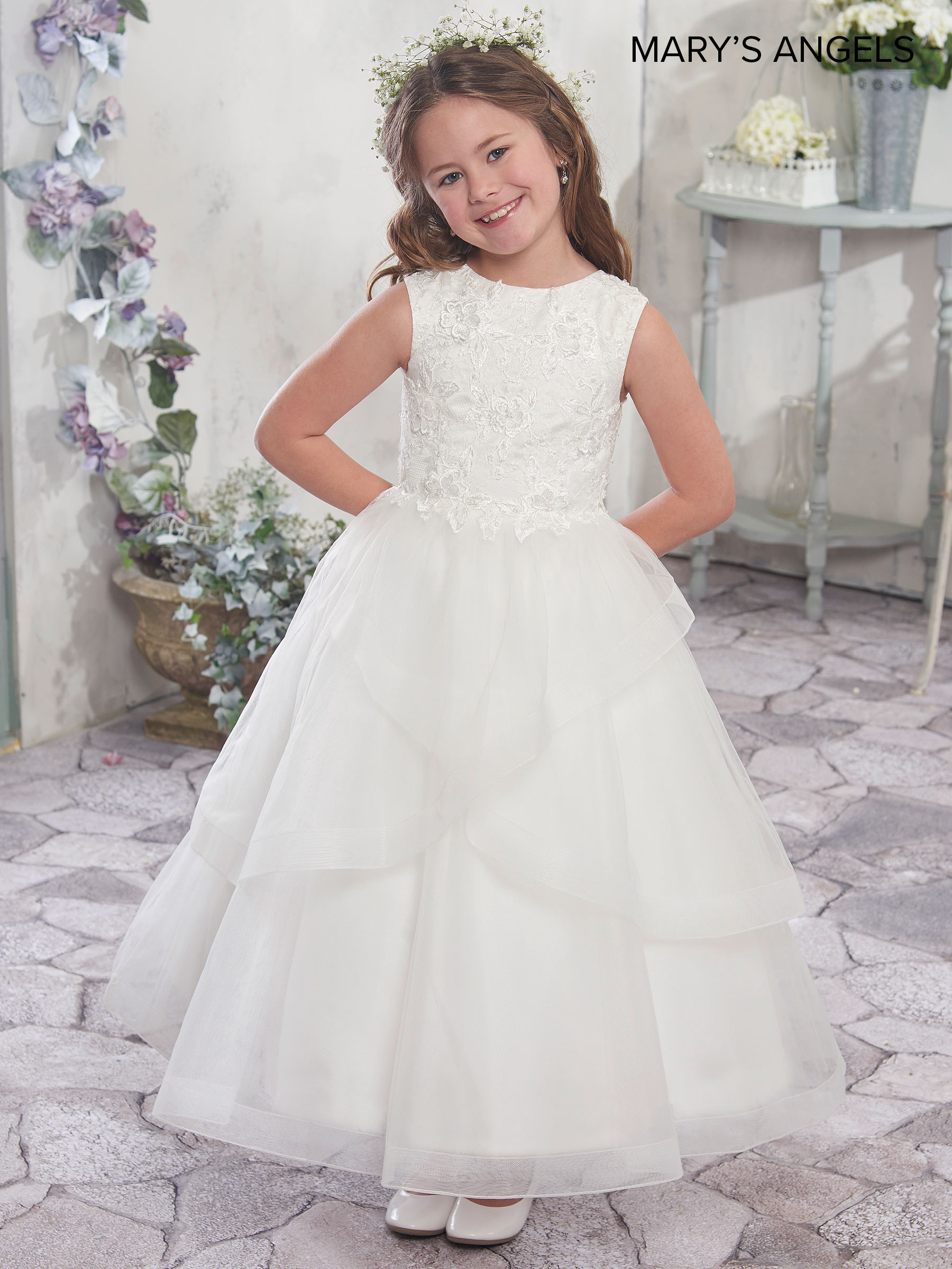 Angel Flower Girl Dresses Style Mb9006 In Blueberry Dark