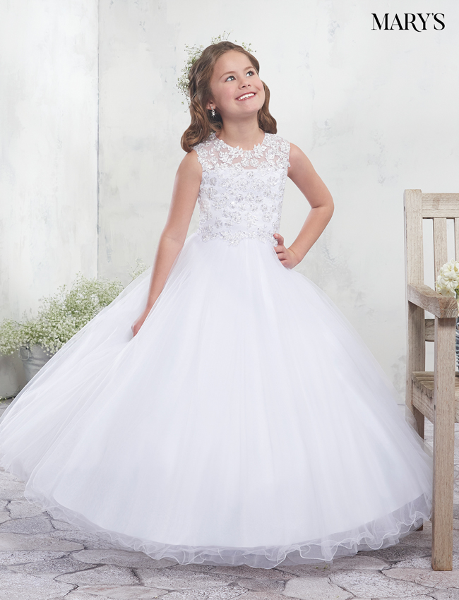 Ivory Color Angel Flower Girl Dresses - Style - MB9010