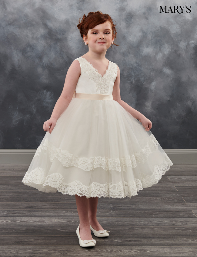 Ivory Color Angel Flower Girl Dresses - Style - MB9018