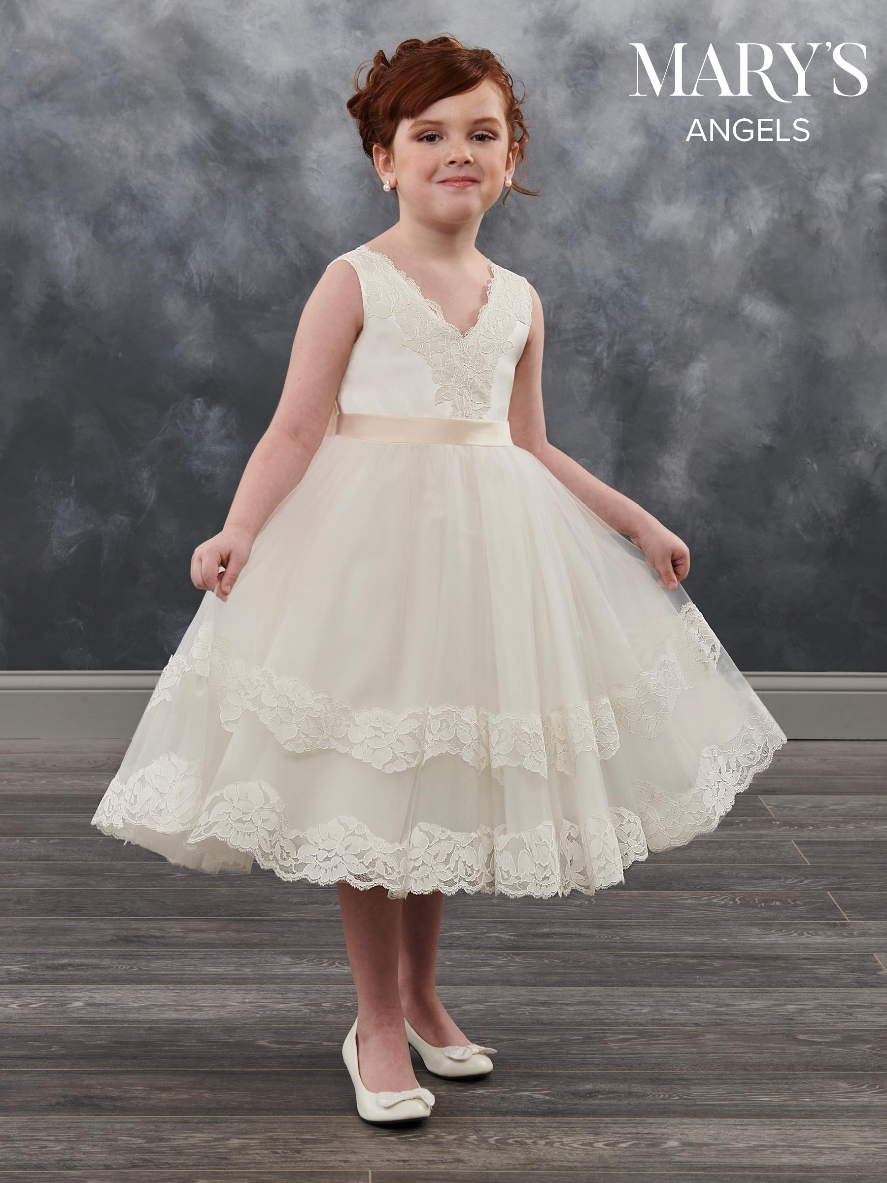 980f6f240 Angel Flower Girl Dresses | Style - MB9018 in Ivory/Champagne, Ivory ...