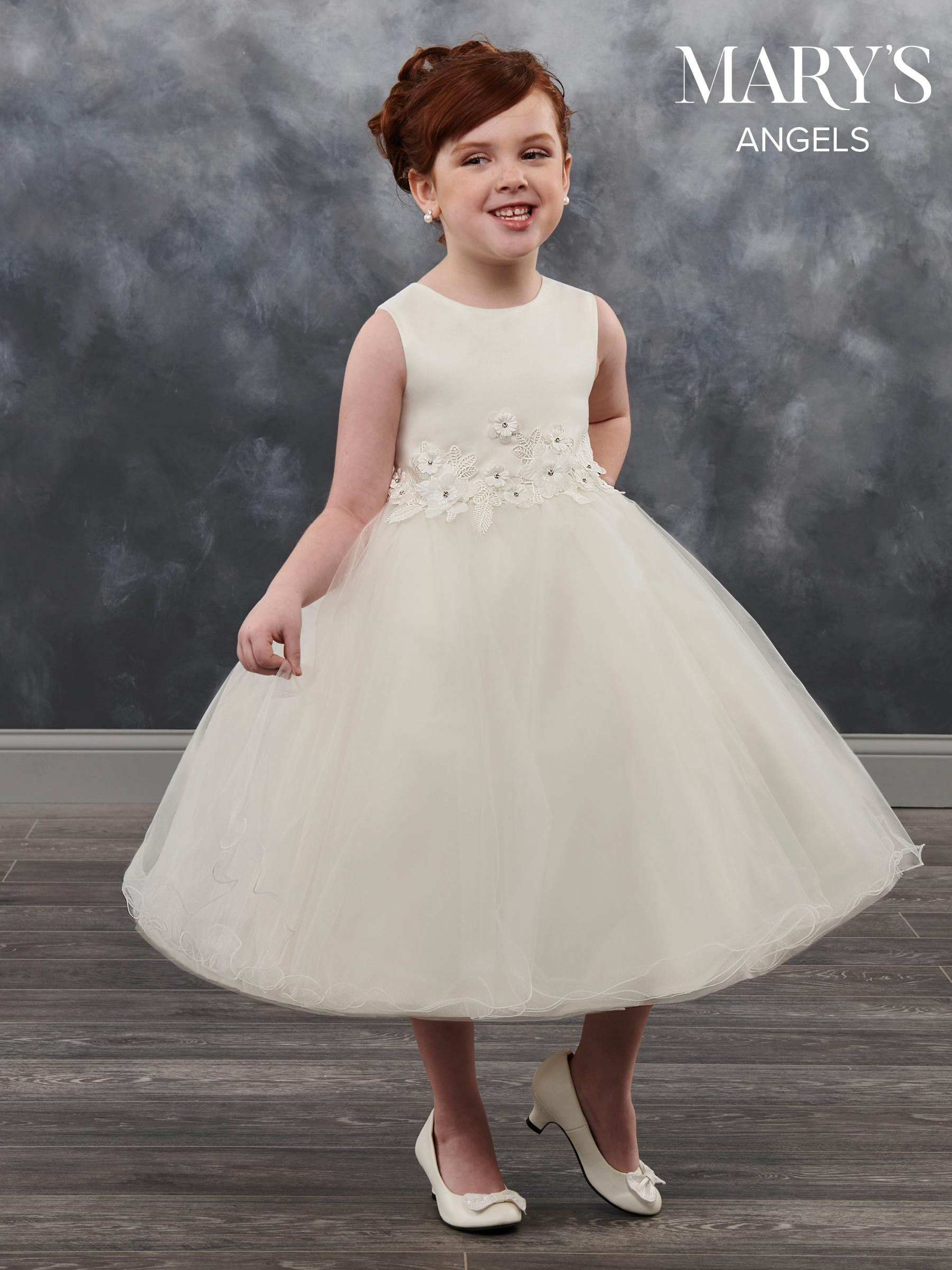 0c75af35d Angel Flower Girl Dresses | Style - MB9021 in Peach/Ivory, Ivory, or ...