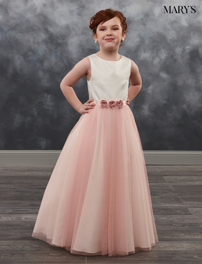 Blush Color Angel Flower Girl Dresses - Style - MB9023