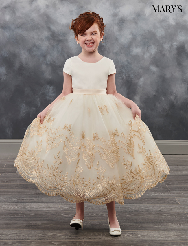 Champagne Color Angel Flower Girl Dresses - Style - MB9025