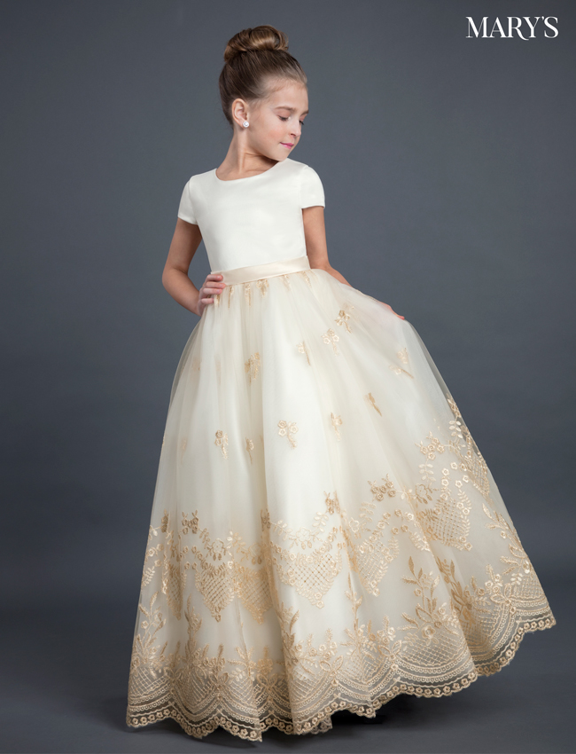 Champagne Color Angel Flower Girl Dresses - Style - MB9026