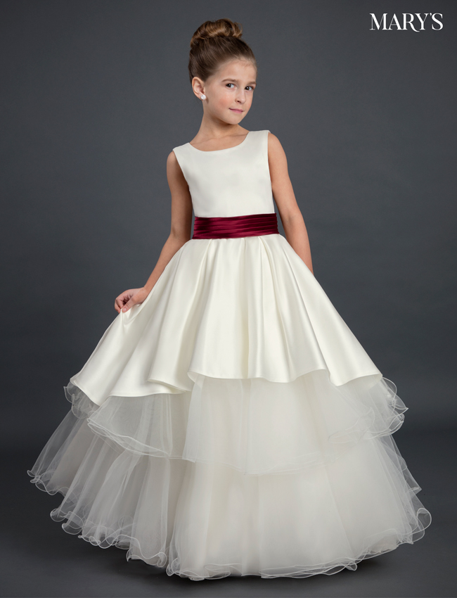 Ivory Color Angel Flower Girl Dresses - Style - MB9028