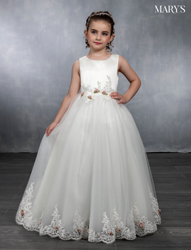 Ivory Color Angel Flower Girl Dresses - Style - MB9034