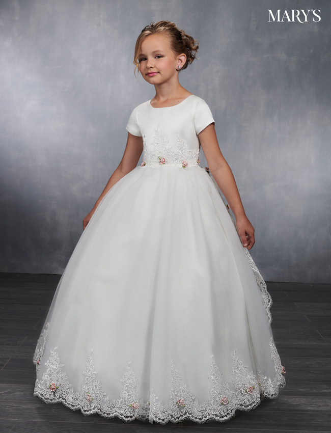 Ivory Color Angel Flower Girl Dresses - Style - MB9035