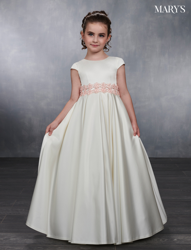 Ivory Color Angel Flower Girl Dresses - Style - MB9036