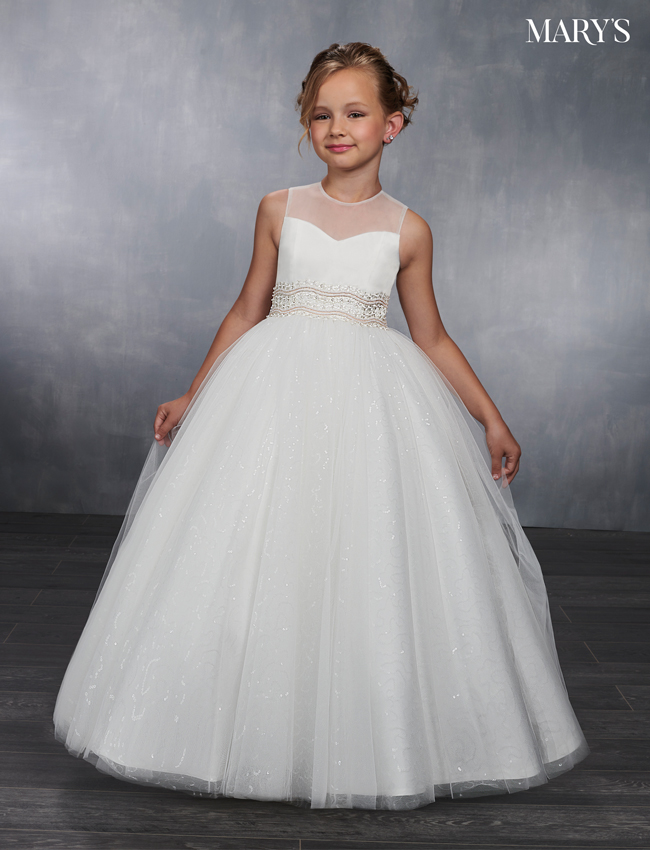 Ivory Color Angel Flower Girl Dresses - Style - MB9037