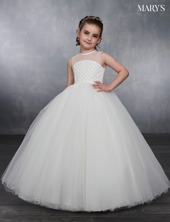 Ivory Color Angel Flower Girl Dresses - Style - MB9038