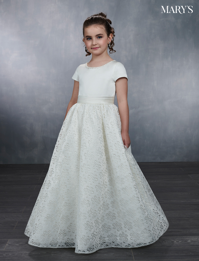 Ivory Color Angel Flower Girl Dresses - Style - MB9040