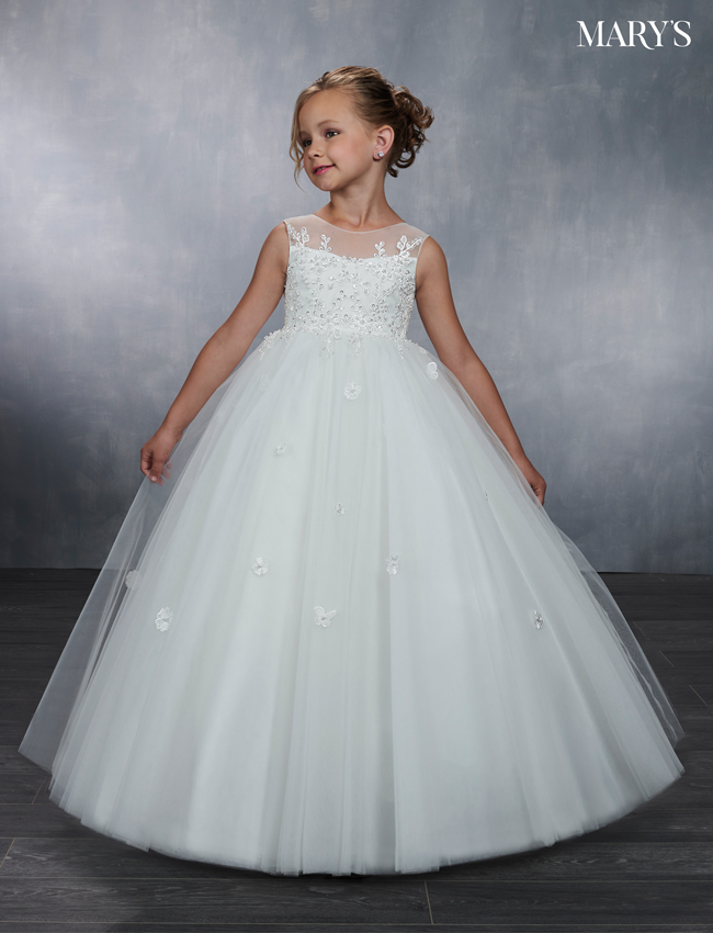 Ivory Color Angel Flower Girl Dresses - Style - MB9043
