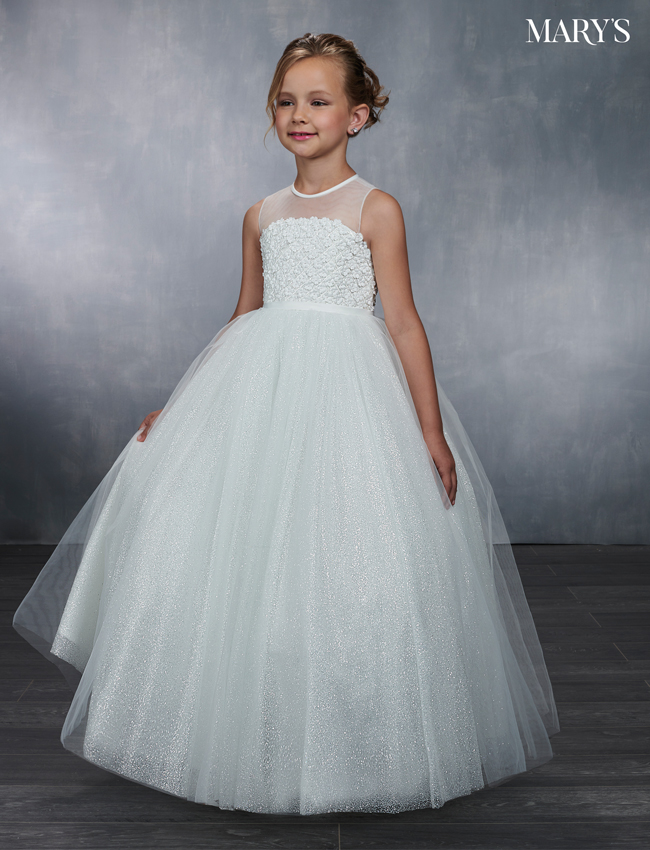Ivory Color Angel Flower Girl Dresses - Style - MB9045