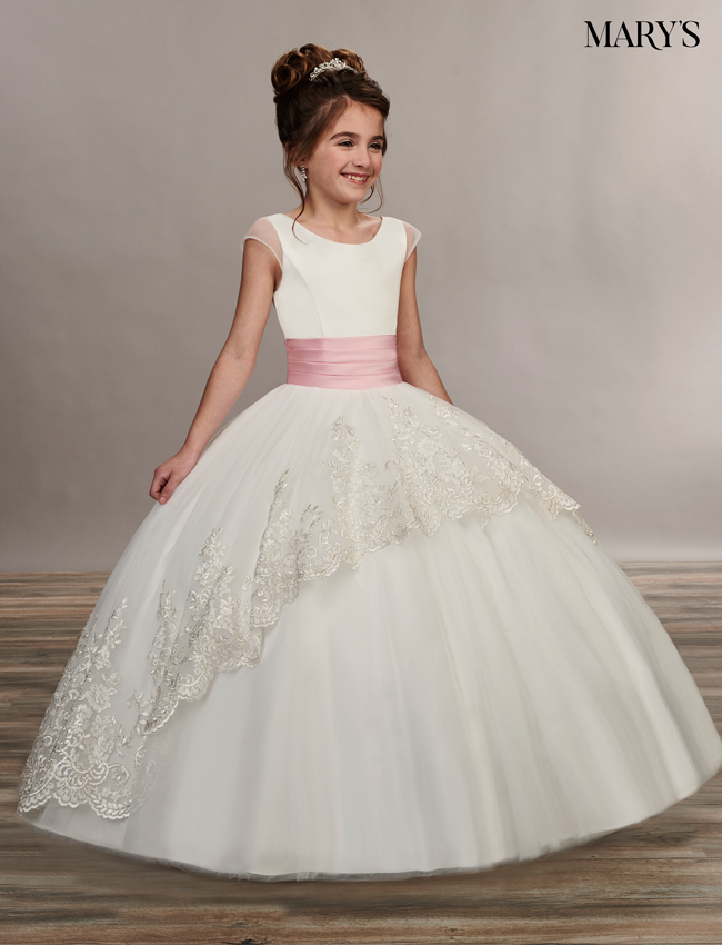 Ivory Color Angel Flower Girl Dresses - Style - MB9047