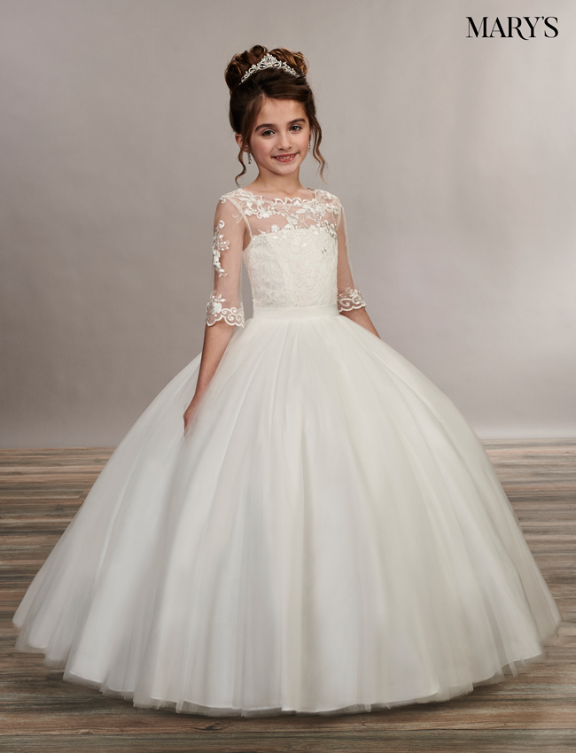 Ivory Color Angel Flower Girl Dresses - Style - MB9048