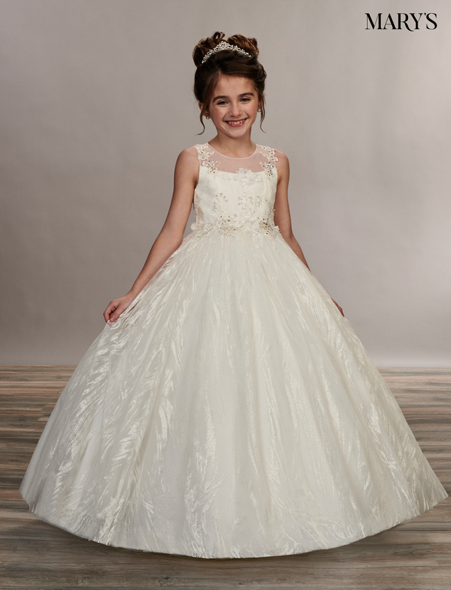 Ivory Color Angel Flower Girl Dresses - Style - MB9052