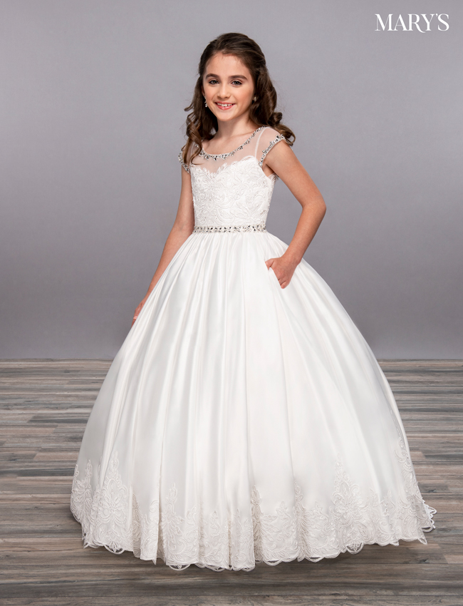Ivory Color Angel Flower Girl Dresses - Style - MB9054
