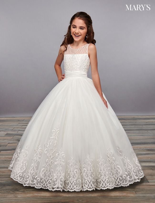 Ivory Color Angel Flower Girl Dresses - Style - MB9055