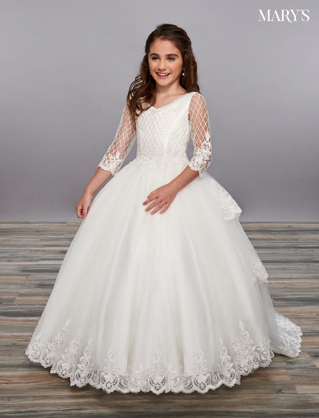Ivory Color Angel Flower Girl Dresses - Style - MB9056