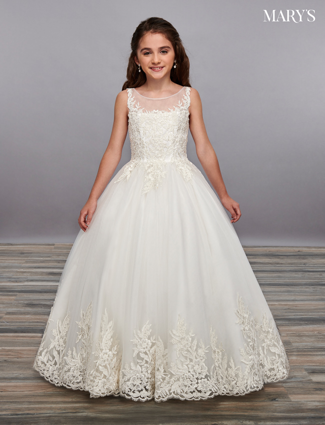 Ivory Color Angel Flower Girl Dresses - Style - MB9057
