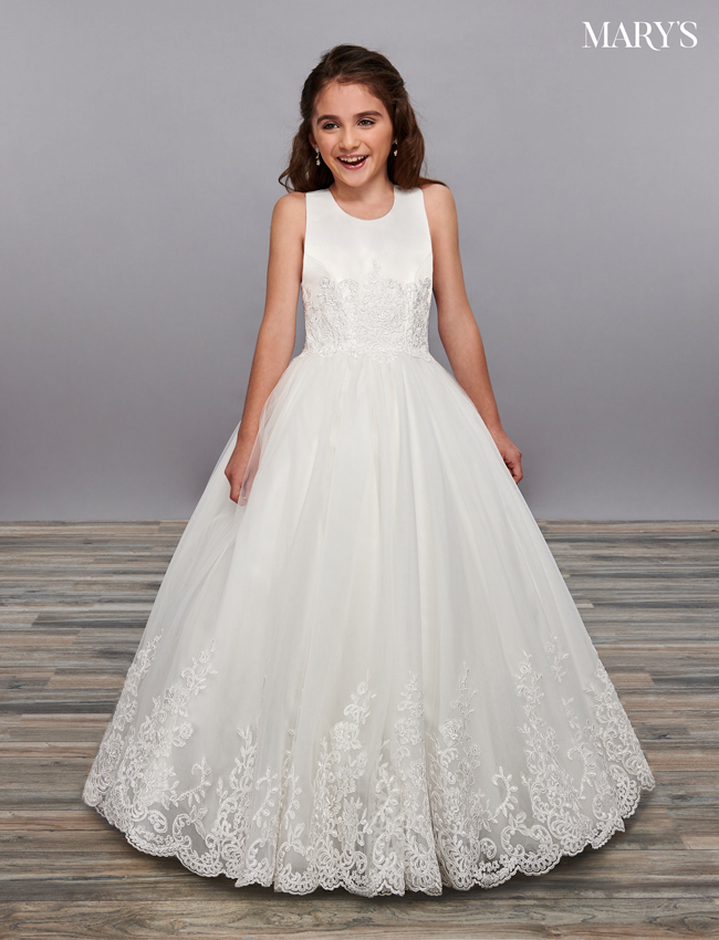 Ivory Color Angel Flower Girl Dresses - Style - MB9058